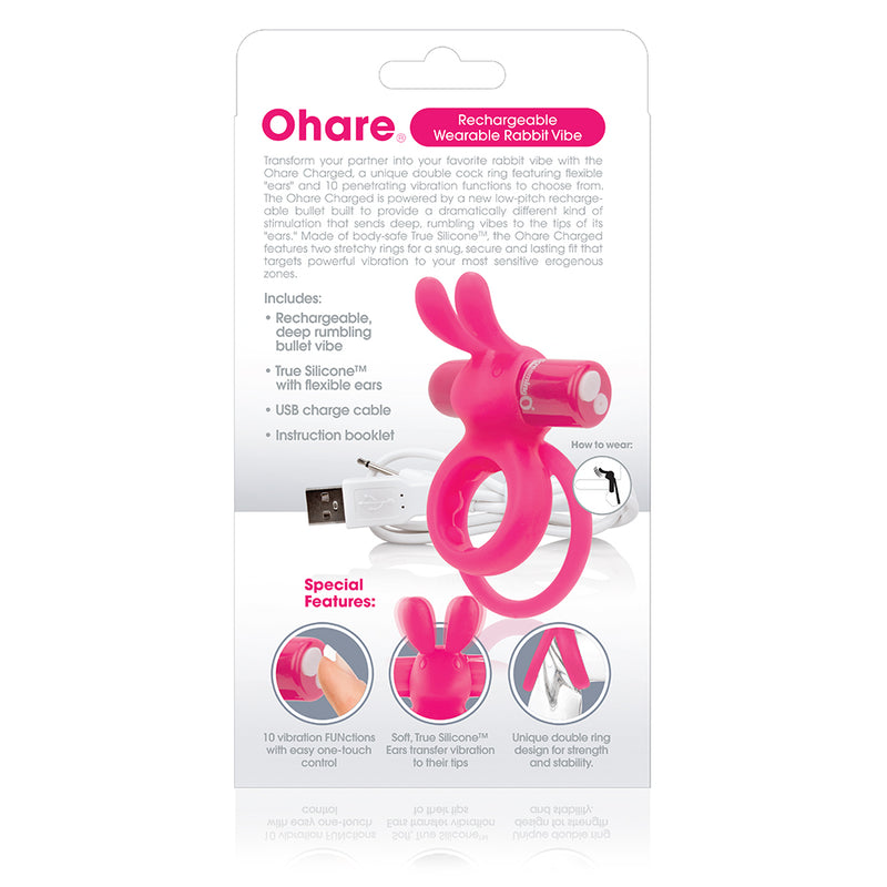 Screaming O Charged Ohare Rechargeable Vooom Mini Vibe Pink