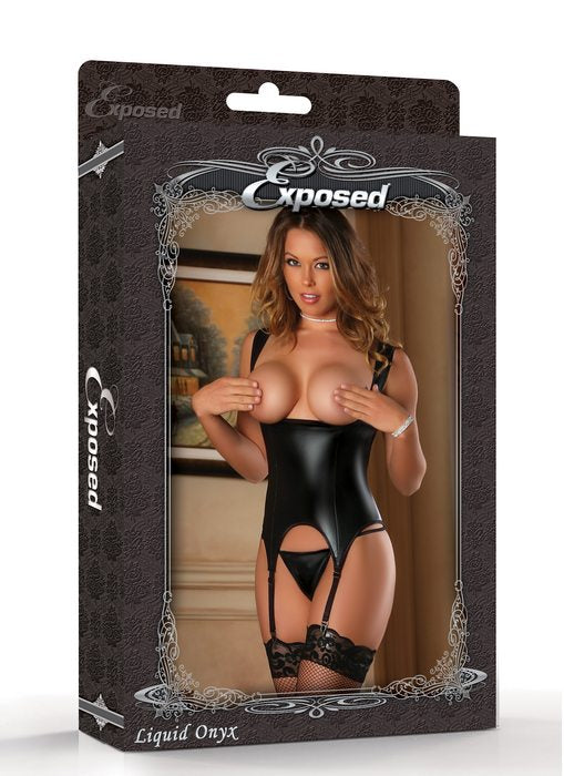Liquid Onyx Collection Cupless Merry Widow Lo Black S/M