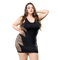 Naughty Girl Wild Leaf Dress Black Curvy size from Naughty Girl Lingerie