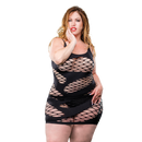 Naughty Girl 2 Strap Wild Mesh Dress Black Curvy size from Naughty Girl Lingerie