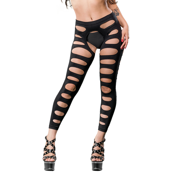 Naughty Girl Sexy Leggings Black O/S from Beverly Hills Naughty Girl lingerie