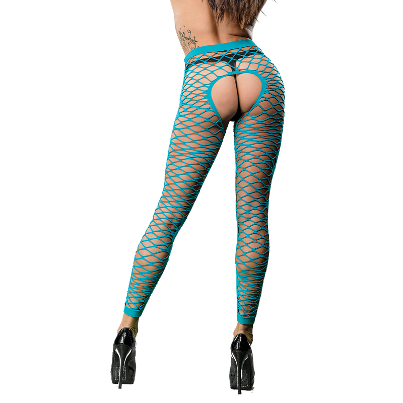 Naughty Girl Sexy Leggings Turquoise Blue O/S from Beverly Hills Naughty Girl lingerie