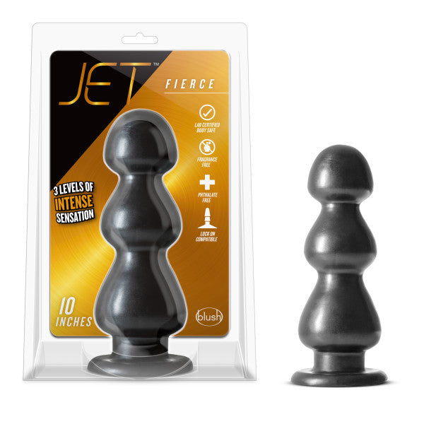 Jet Fierce Carbon Black Metallic Butt Plug