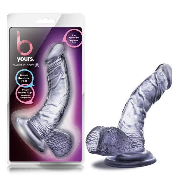 B Yours Sweet N Hard 8 inches Clear Realistic Dildo