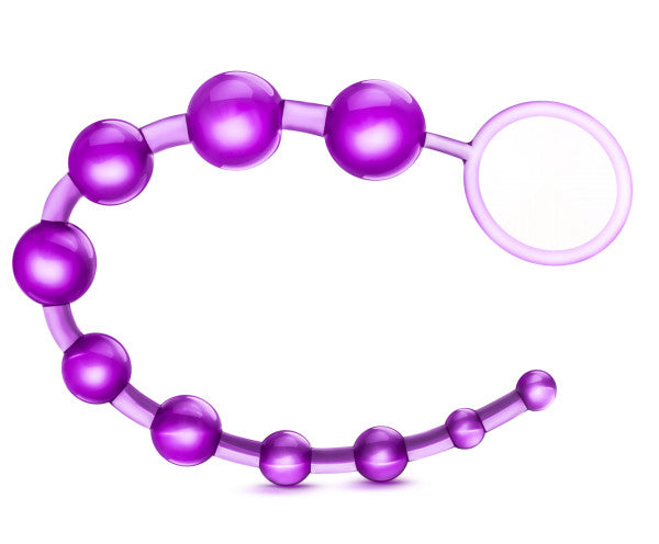 B Yours Sassy Anal Beads Purple