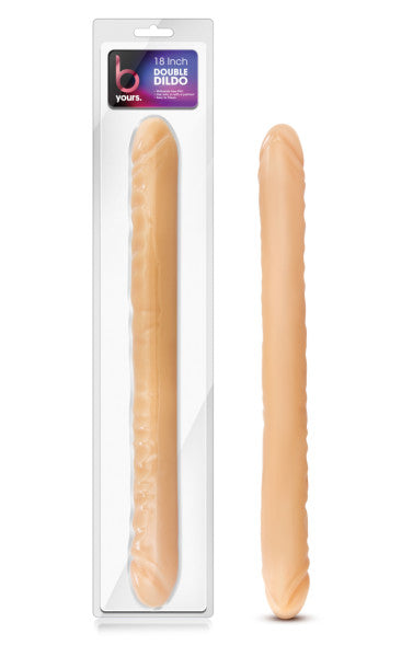 Blush Novelties B Yours 18 inches Double Dildo Beige