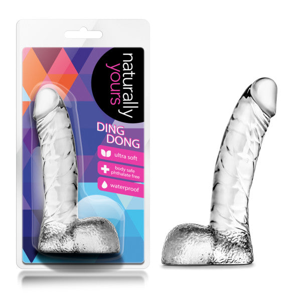 Naturally Yours Ding Dong Clear Realistic Dildo