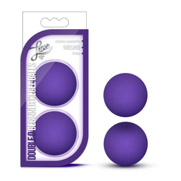 Luxe Double O Beginner Kegel Balls Purple