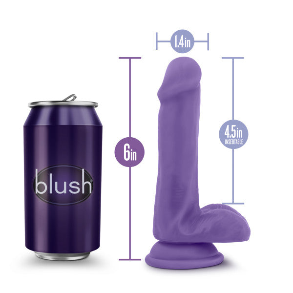 Au Naturel Bold Delight 6 inches Dildo Purple from Blush Novelties