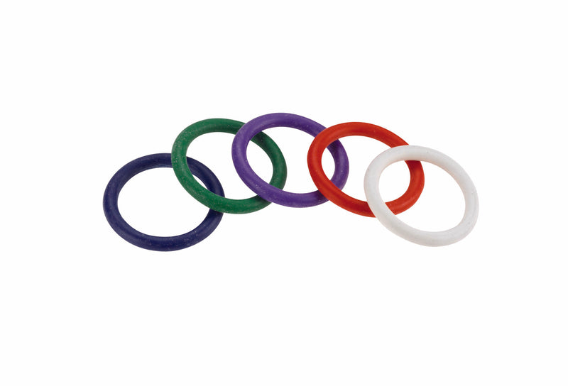 Spartacus Cock Gear 1 1/4 Inches Rubber Cock Rings Rainbow Rubber 5 Pack
