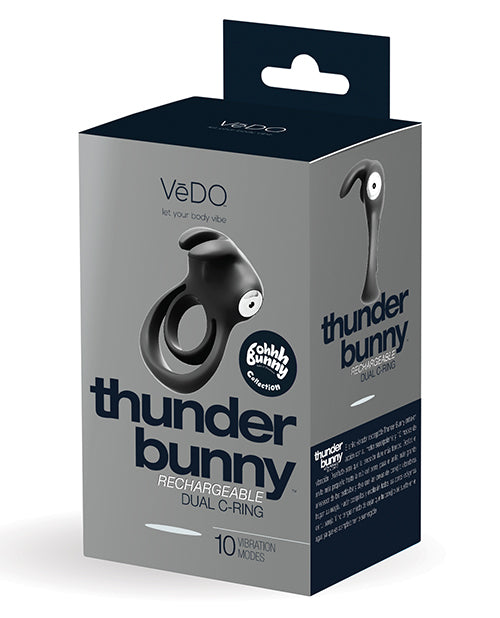 Vedo Thunder Bunny Dual Ring Rechargeable Black Pearl