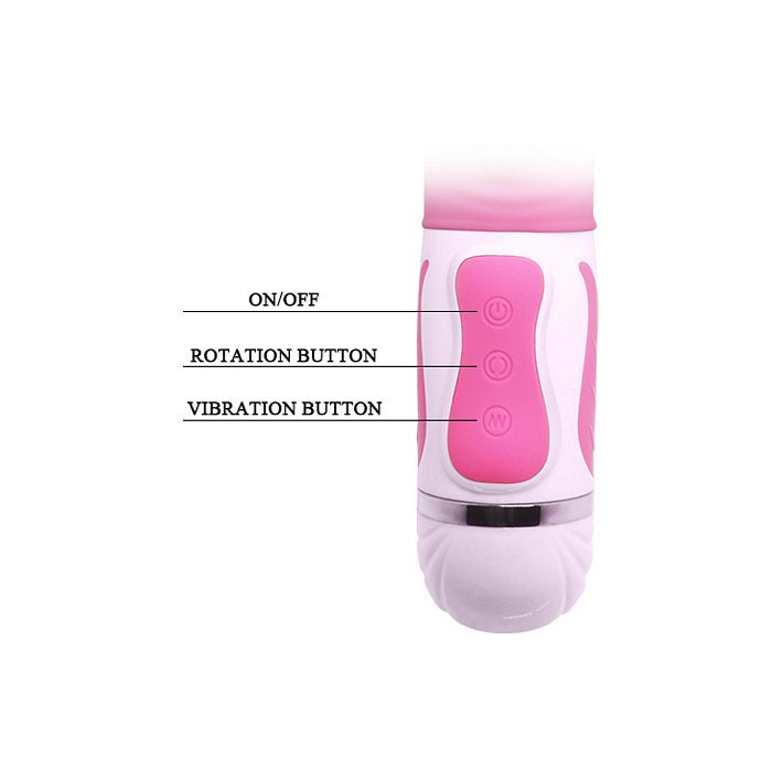 Pretty Love Antonie Silicone Pink Rabbit Style Vibrator