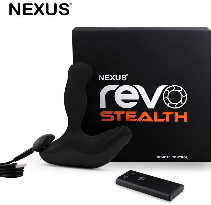 Nexus Revo Stealth Remote Rechargeable Vibrating Silicone Rotating Prostate Massager