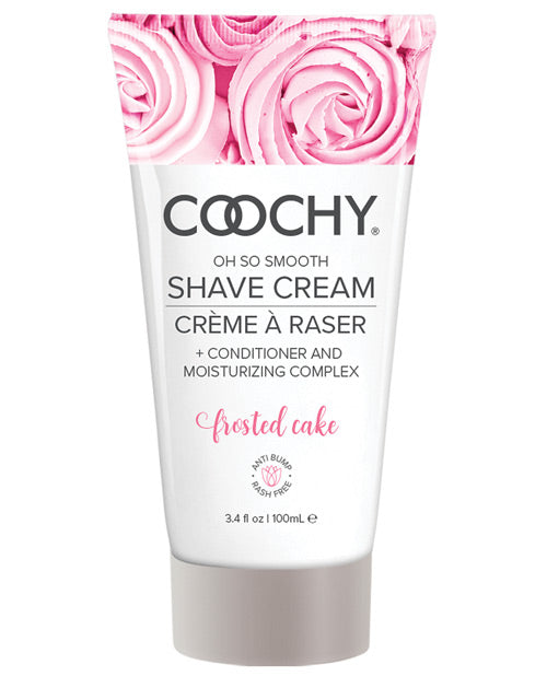 Coochy Rash Free Shave Cream Frosted Cake 3.4 Oz