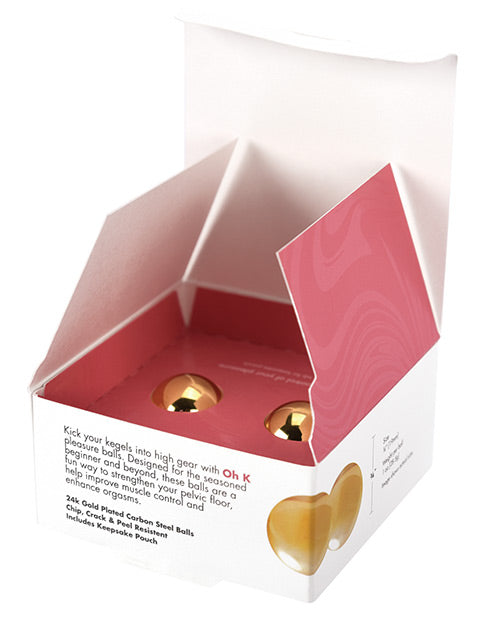 CGC Ok K 24K Gold Plated Pleasure Balls