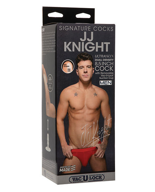 Signature Cocks JJ Knight 8.5 inches Ultraskyn Cock Replica Dildo with Removable Vac-U-Lock Suction cup from Doc Johnson Novelties