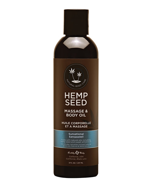 Hemp Seed Massage Oil Sunsational 8 Oz