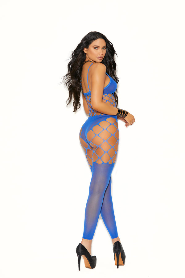 Opaque and Net Footless Bodystocking from Elegant Moments