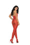 Red Striped Bodystocking from Elegant Moments