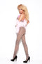 Elegant Moments Lingerie Leopard Bodystocking one size queen