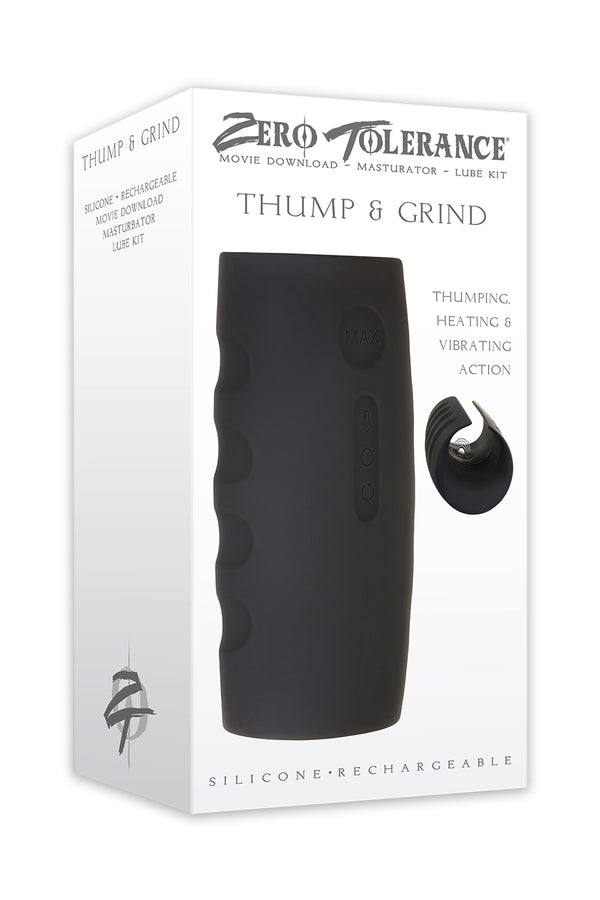 Zero Tolerance Thump and Grind Rechargeable Stroker from Evolved Novelties