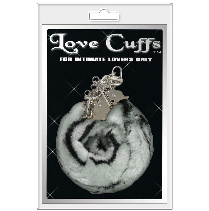 PLUSH LOVE CUFFS ZEBRA