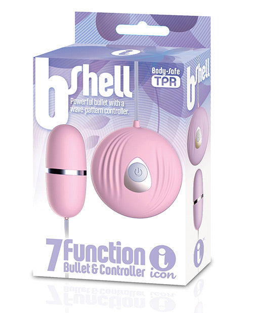 The 9'S B-Shell Bullet Vibrator Pink from Icon Brands