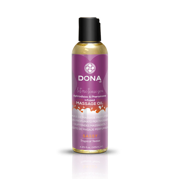 System JO DONA Massage Oil Sassy Tropical Tease Scented Massage oil 3.75 Oz