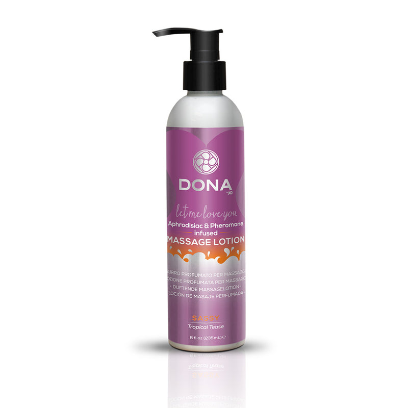 System JO DONA Let Me Love You Massage Lotion Sassy Tropical Tease 8 oz