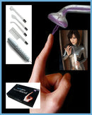NEON WAND ELECTROSEX KIT WHITE HANDLE PURPLE ELECTRODE US PLUG