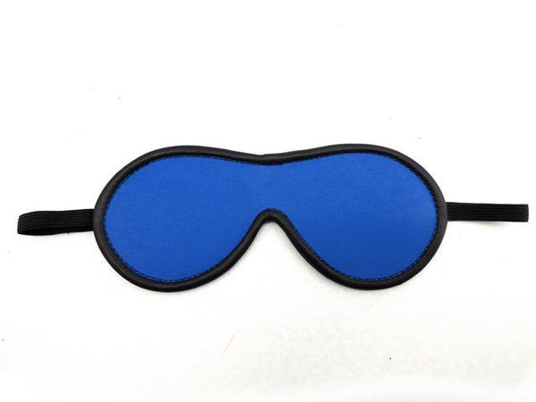 Leather Blindfold Blue