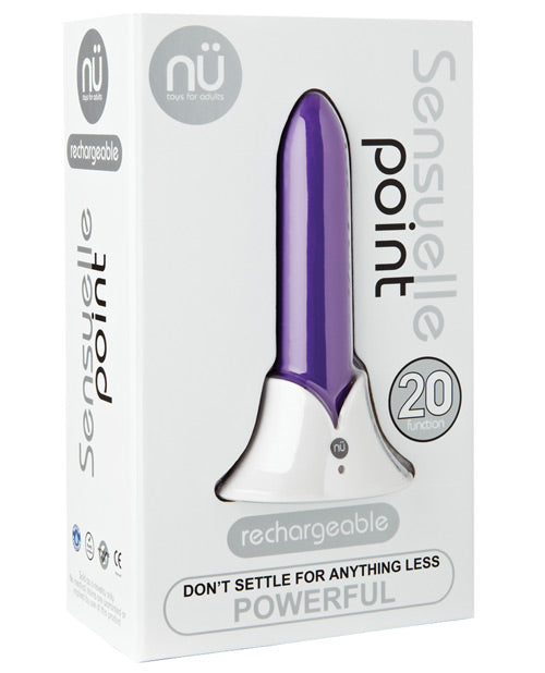 NU Sensuelle Point 20-Function Rechargeable Silicone Bullet Vibrator Purple