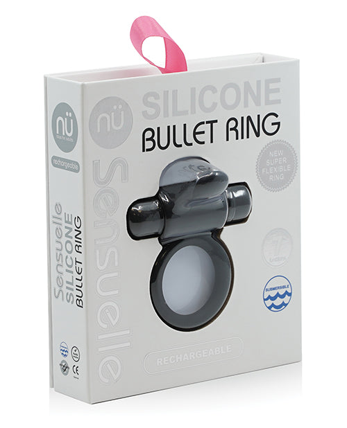 Sensuelle Silicone Bullet Ring Navy Black from Novel Creations