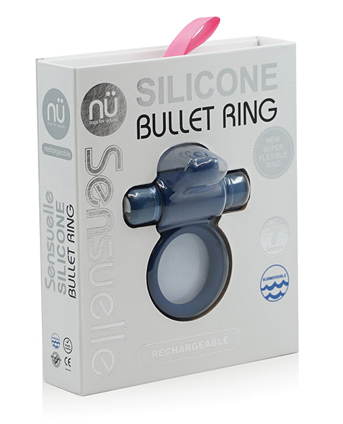 SENSUELLE SILICONE BULL RING NAVY BLUE