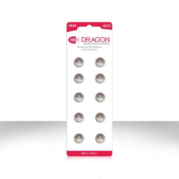 Dragon watch size batteries 10 pack AG13/LR44