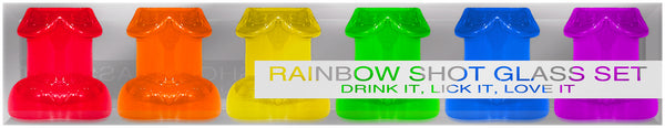 Rainbow Shot Glass Set 6 Pieces from Kheper Games