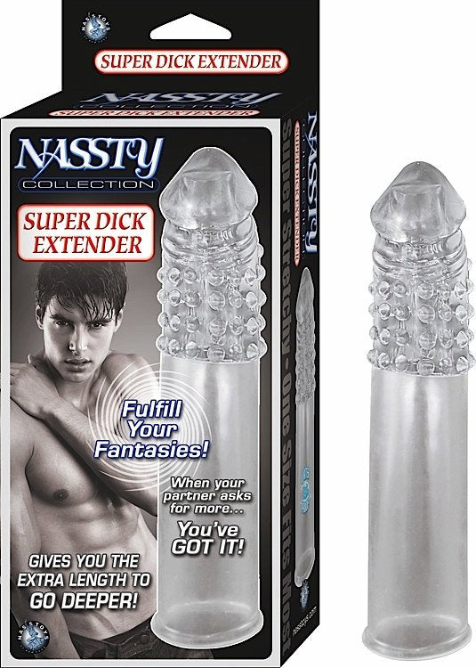NASSTY COLLECTION SUPER DICK EXTENDER CLEAR