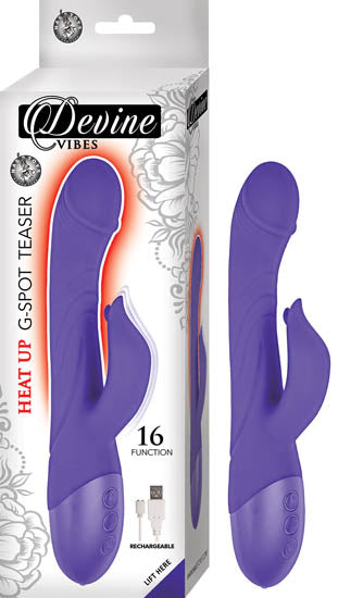 Devine Vibes Heat Up G-Spot Teaser Vibrator Purple from Nasstoys