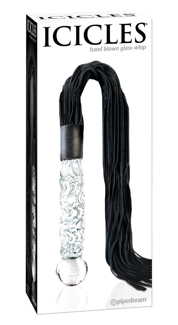 Pipedream Icicles #38 Hand Blown Glass Whip