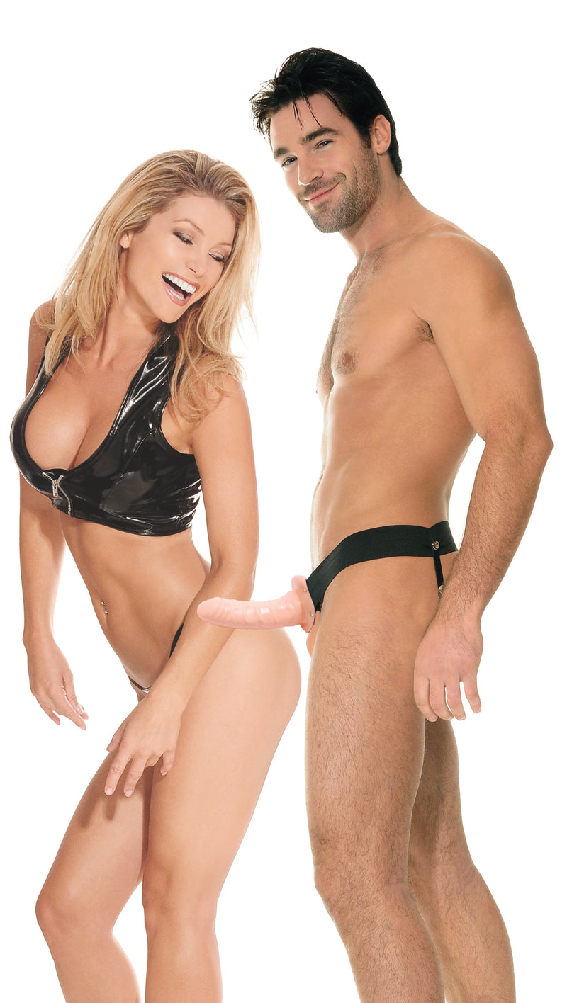 Fetish Fantasy Series Beginner's Hollow Strap On For Him or Her Flesh