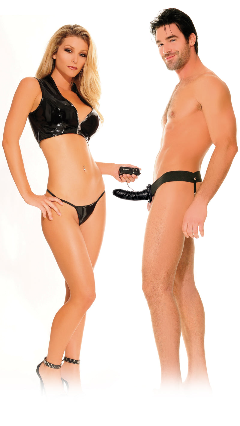 Fetish Fantasy Vibrating Hollow Strap On For Him or Her Vibrating