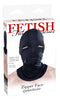 FETISH FANTASY BLACK ZIPPER FACE HOOD