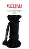 Fetish Fantasy Series Deluxe Silky Rope Black 32 feet