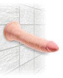 King Cock Triple Density 7 inches Beige Dildo