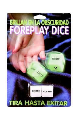 GLOW IN THE DARK EROTIC DICE-EA-SPANISH VERSION