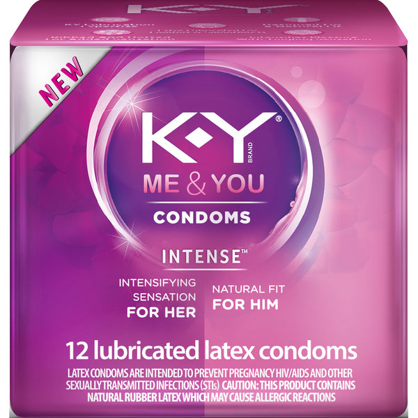 KY Intense Lubricated Latex Condoms 12 Count