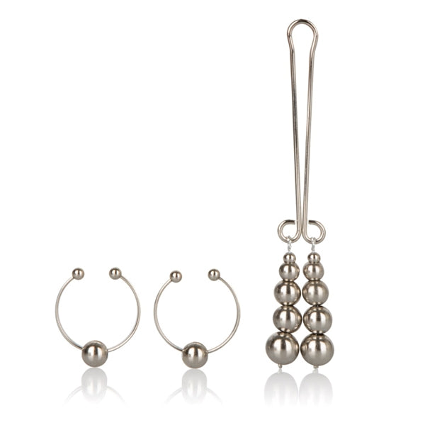 Nipple and Clitoral Non-Piercing Body Jewelry Silver
