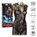 Scandal Strappy Lace Body Suit O/S Black from California Exotic Novelties