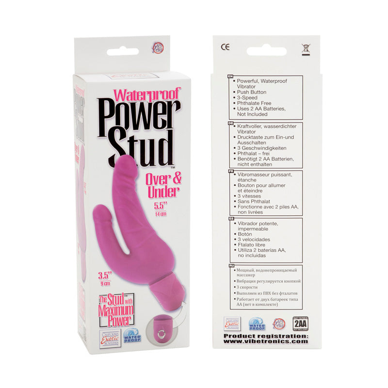 POWER STUD OVER UNDER W/P PINK