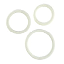RUBBER RING WHITE 3PC SET